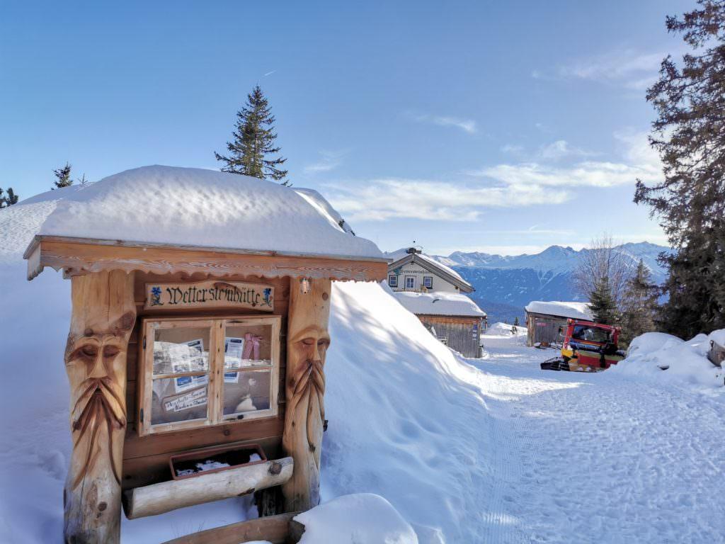 Rodeln Österreich - mit Schneegarantie auf der Wettersteinhütte