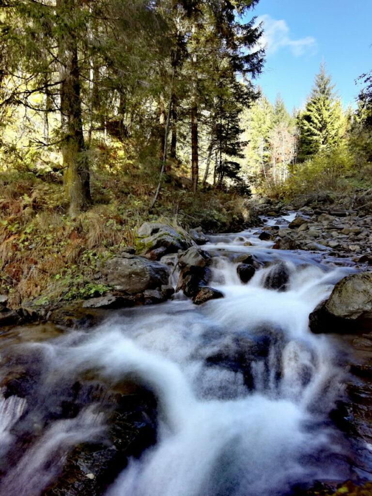 Das Wasser von der Millstätter Alpe fließt durch die Millstätter Schlucht