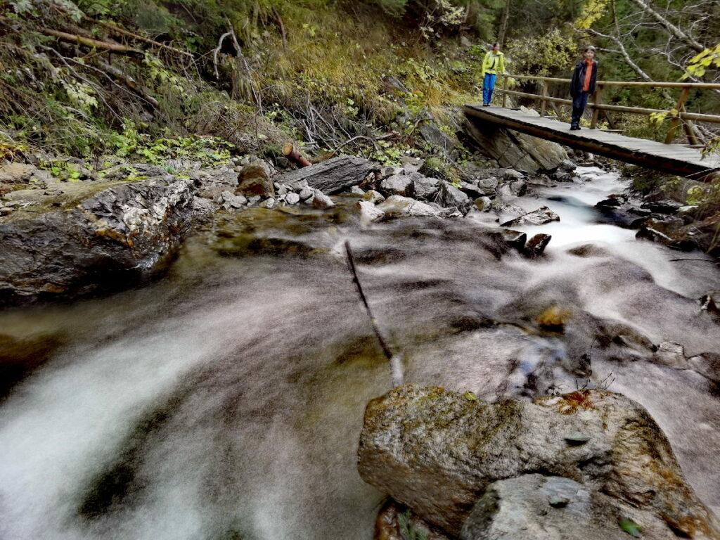 Über solche Brücken sind wir auf dem Schluchtweg Millstatt gewandert