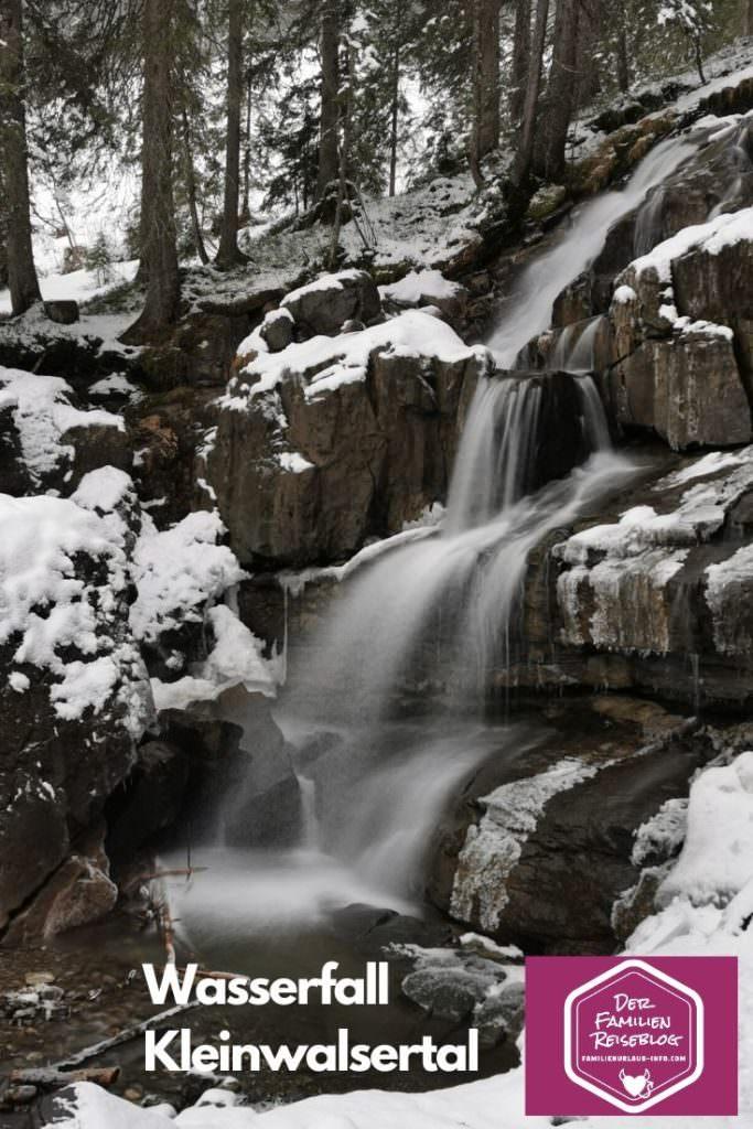 Der Wasserfall im Schwarzwassertal Kleinwalsertal
