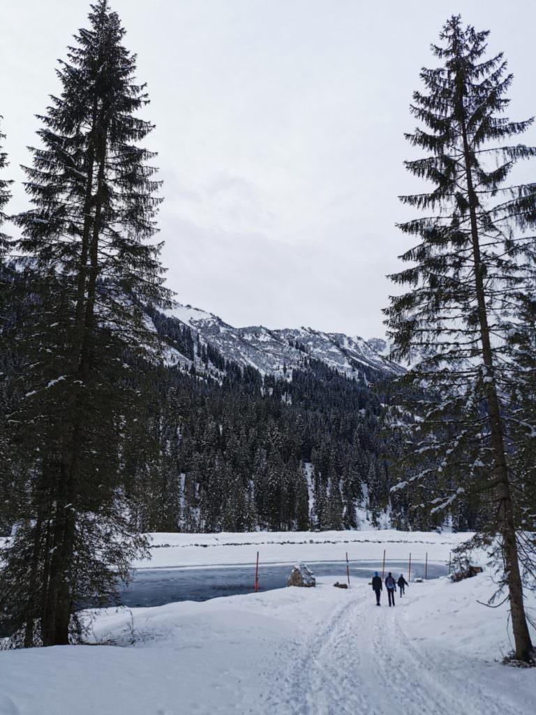Schwarzwassertal winterwandern zum Herzsee