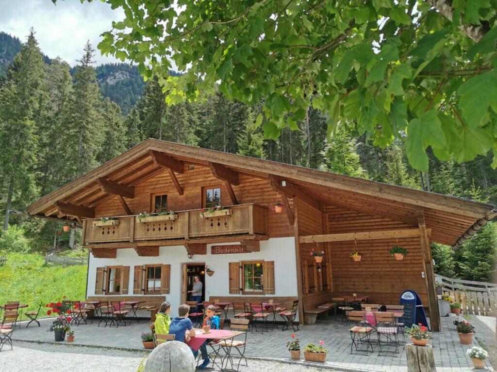 Seefeld Tirol wandern mit Kinderwagen - die Bodenalm