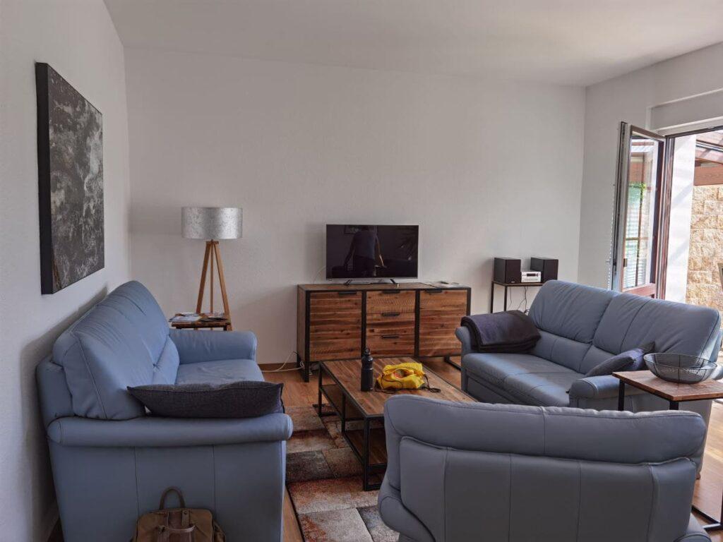 Senftenberger See Ferienwohnung mit großem Wohnzimmer