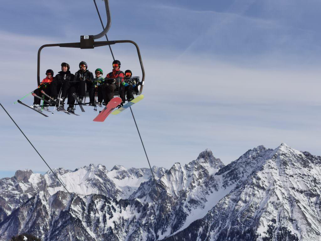 Skigebiet Brandnertal - mit der Sesselbahn zum Glattjoch