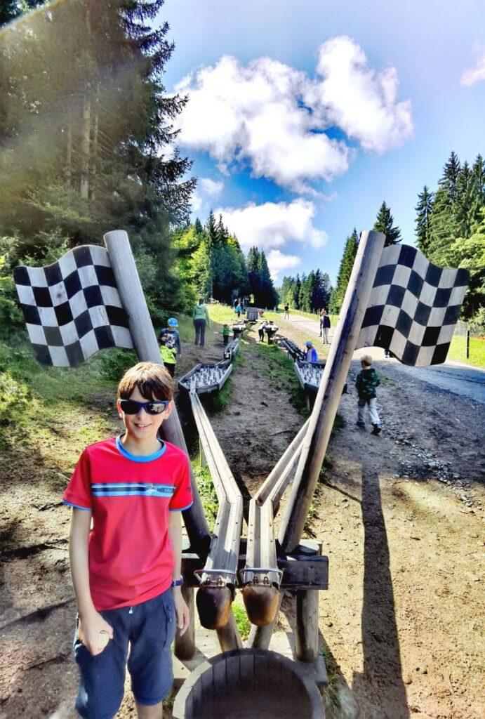 Söllis Kugelrennen macht viel Spaß - hier ist leider das Ende der Kugelbahn erreicht