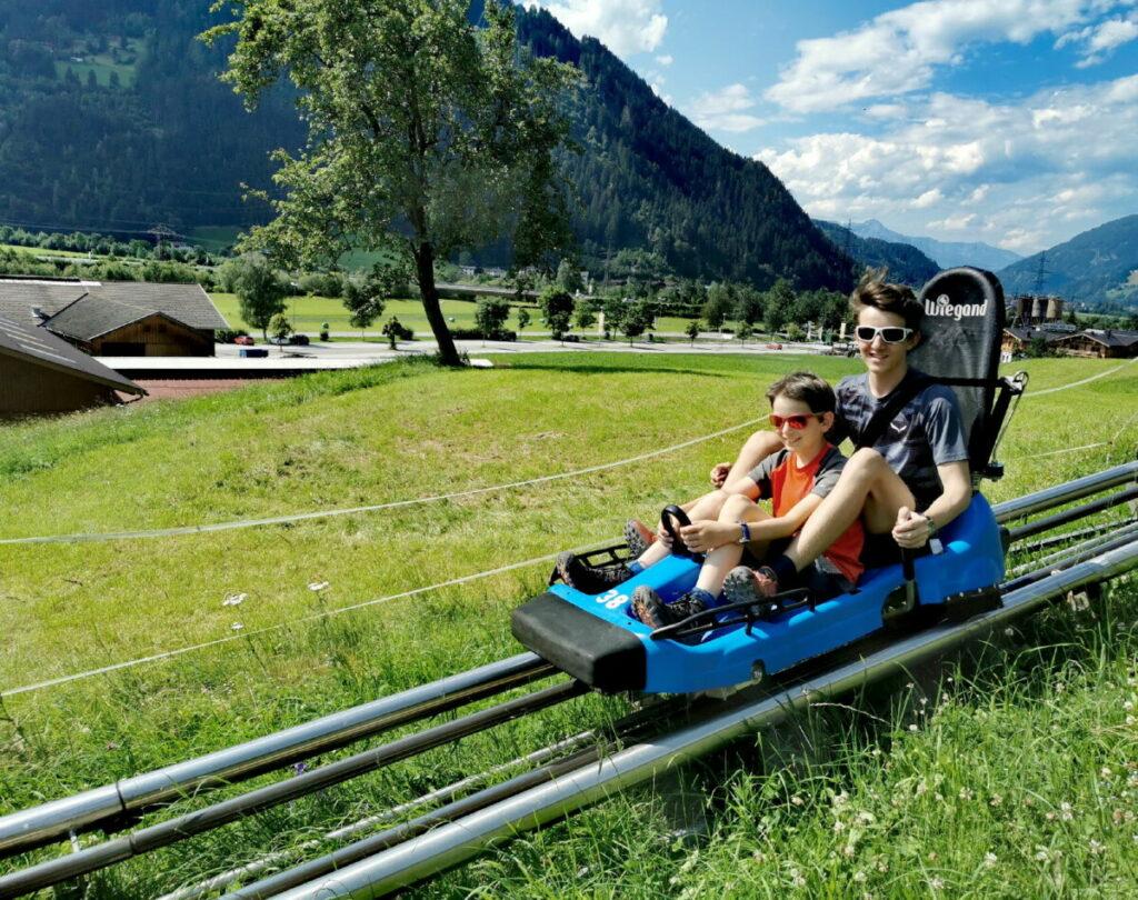 Sommerrodelbahn Zillertal - ein großer Spaß für Kinder