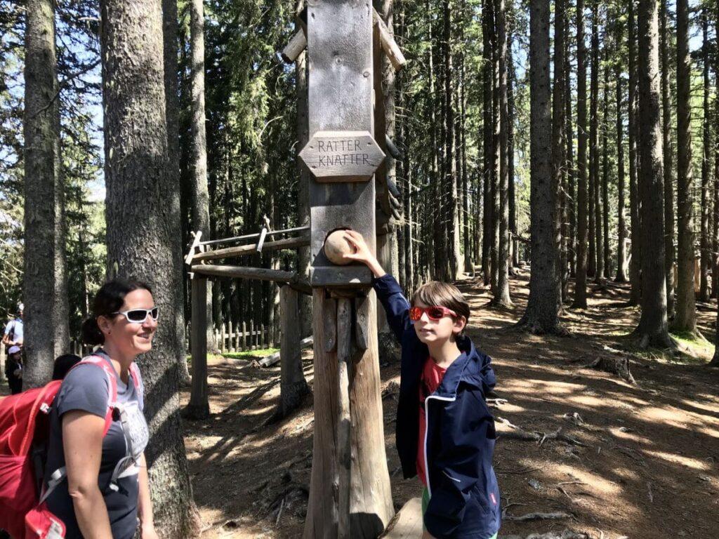 Sommerurlaub mit Kindern in Tirol: Genialer Kugelwald am Glungezer
