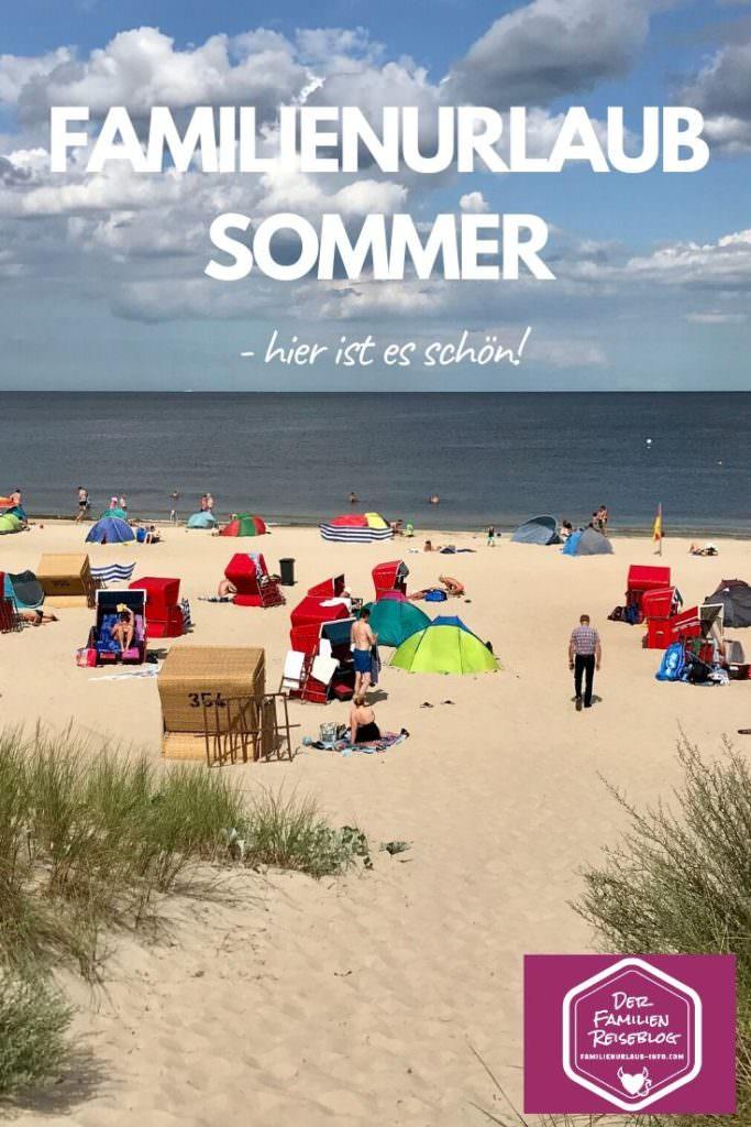 Sommerurlaub mit Kindern an der Ostsee - wunderbar mit dem langen Sandstrand