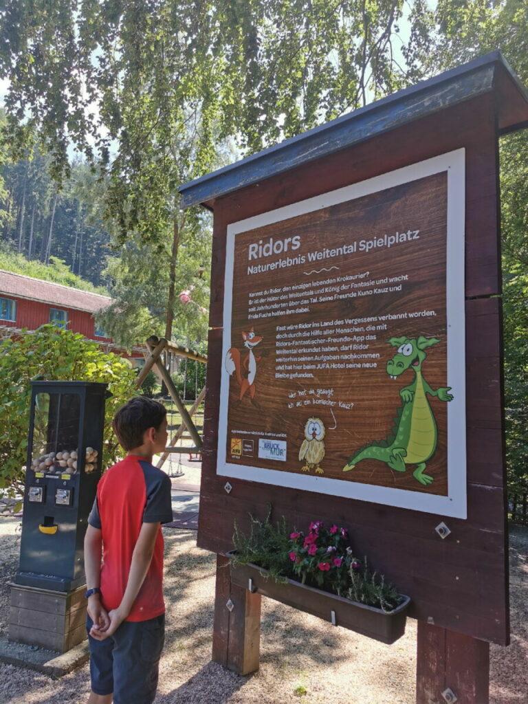 Bruck an der Mur mit Kindern entdecken - Natuerlebnis am Weitental Spielplatz