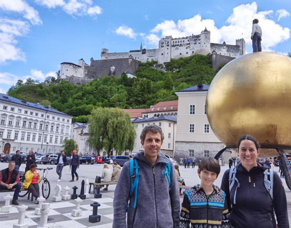 Stadtrallye Salzburg - wir machen uns auf den Weg von Station zu Station