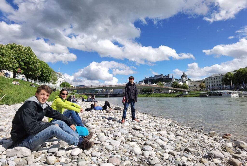 Strand Salzburg? Mitten in der Stadt an der Salzach