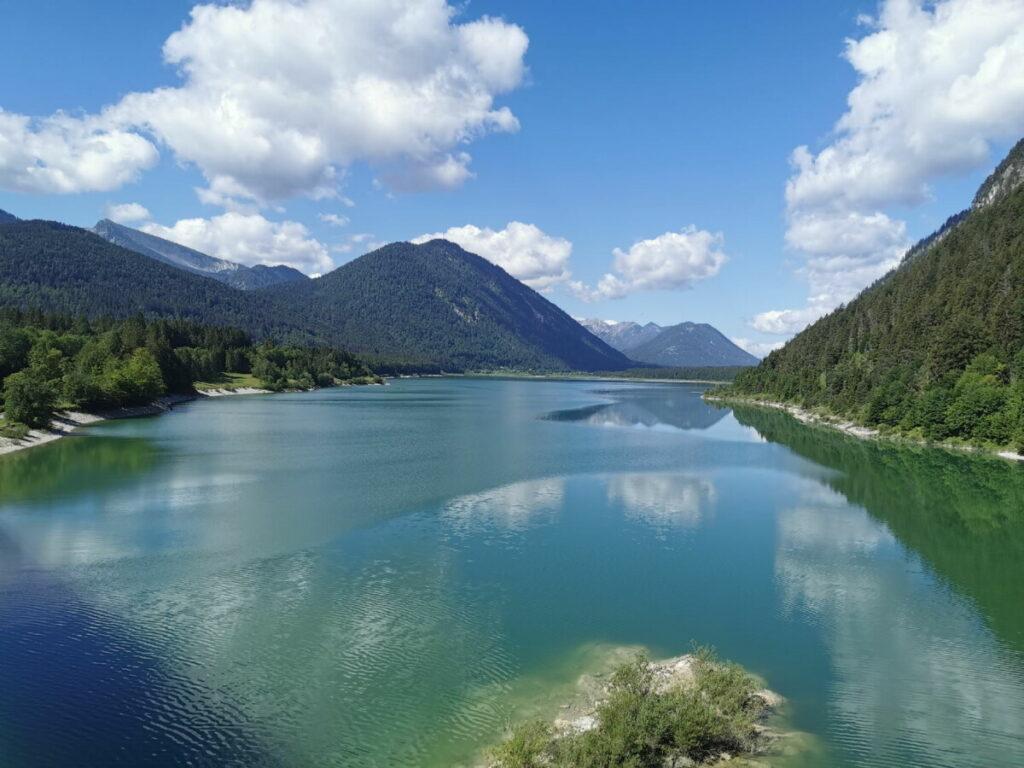 Traumziel Sylvensteinsee - geht sehr gut im Tölzer Land mit Kindern
