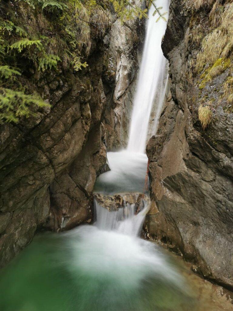Tatzelwurm Wasserfälle Bayrischzell - Top Ausflugsziel in Bayern, leicht zu erreichen ab dem Familienhotel Bayrischzell