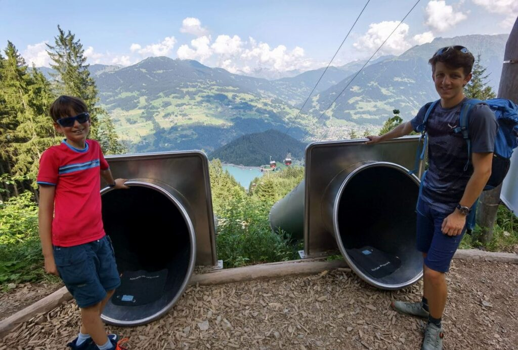 Danach das Highlight für Kinder: Der Waldrutschenpark Golm
