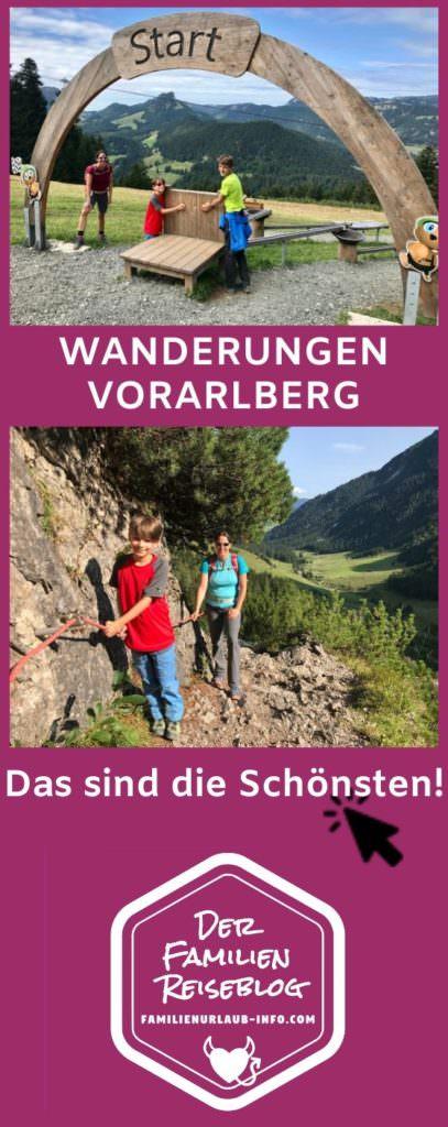 Wandern mit Kindern Vorarlberg - merken mit diesem Pin