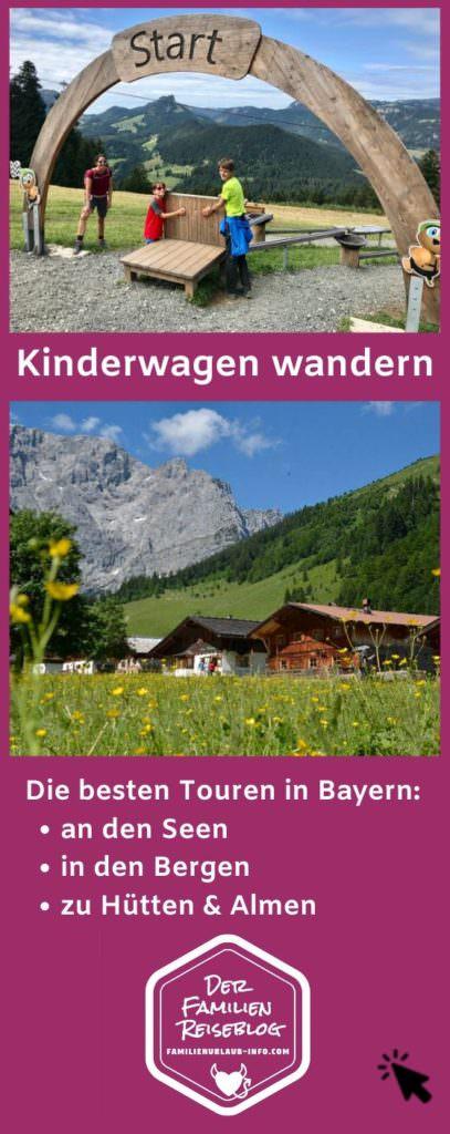 Wandern mit Kinderwagen Bayern