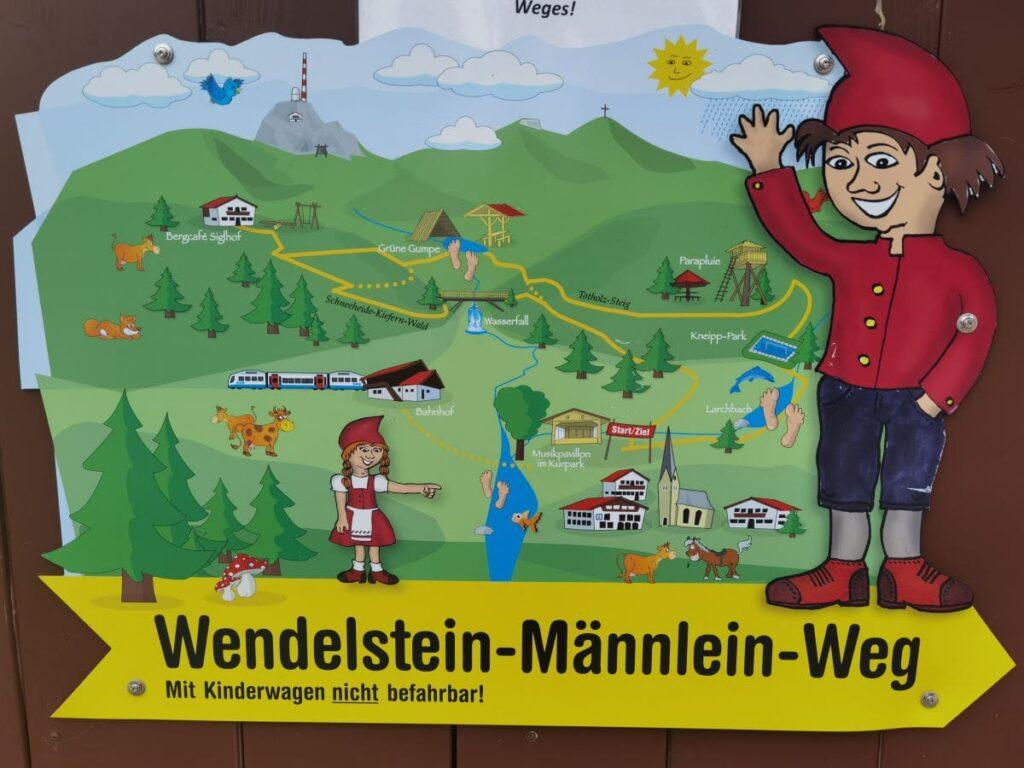Vom Familienhotel Bayrischzell direkt zum Wandern mit Kindern am beliebten Wendelstein Männlein Weg