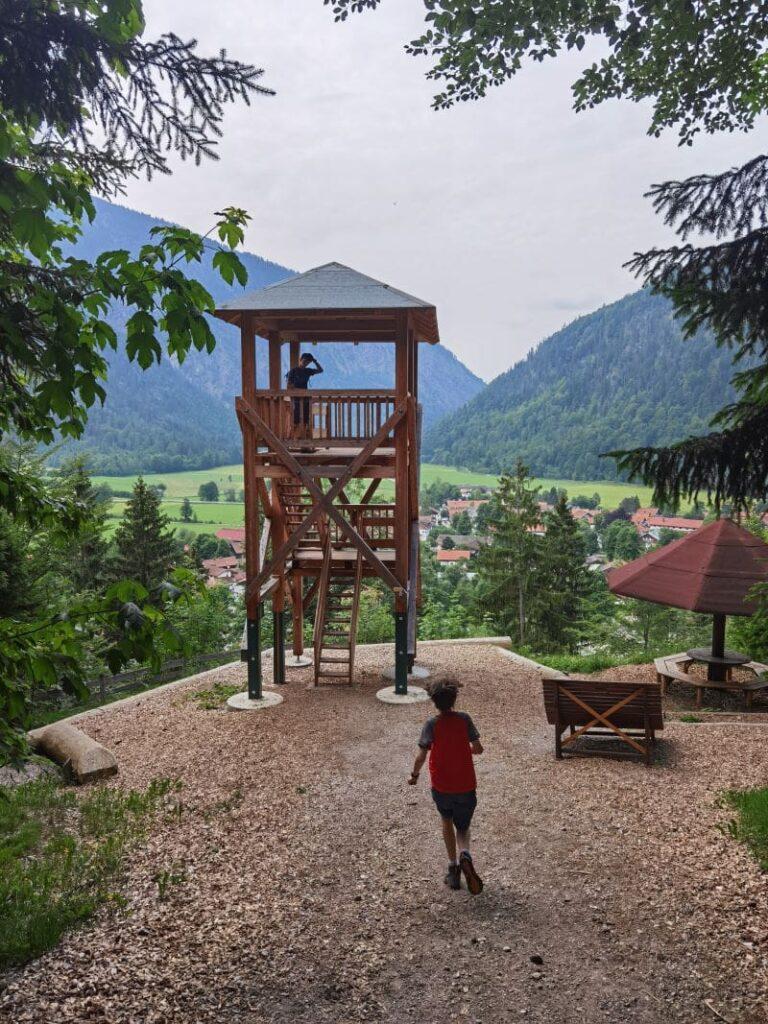 Aussichtsturm auf dem Wendelstein Männlein Weg in Bayrischzell