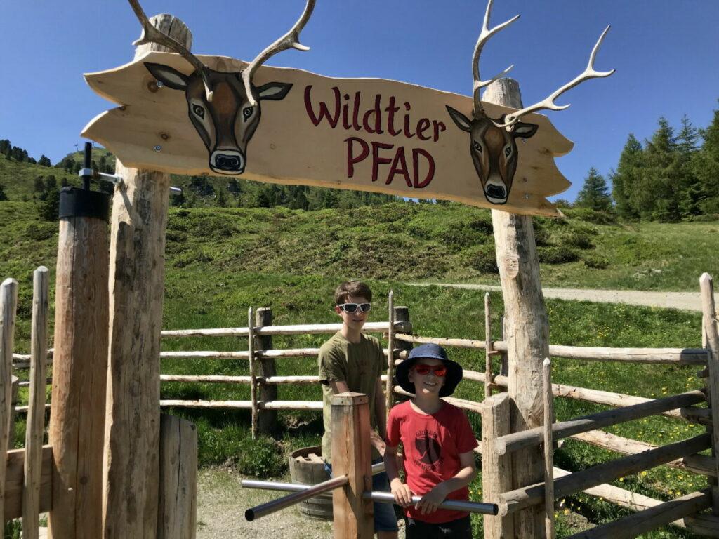 Am Wildtierpfad im Zillertal wandern mit Kinderwagen