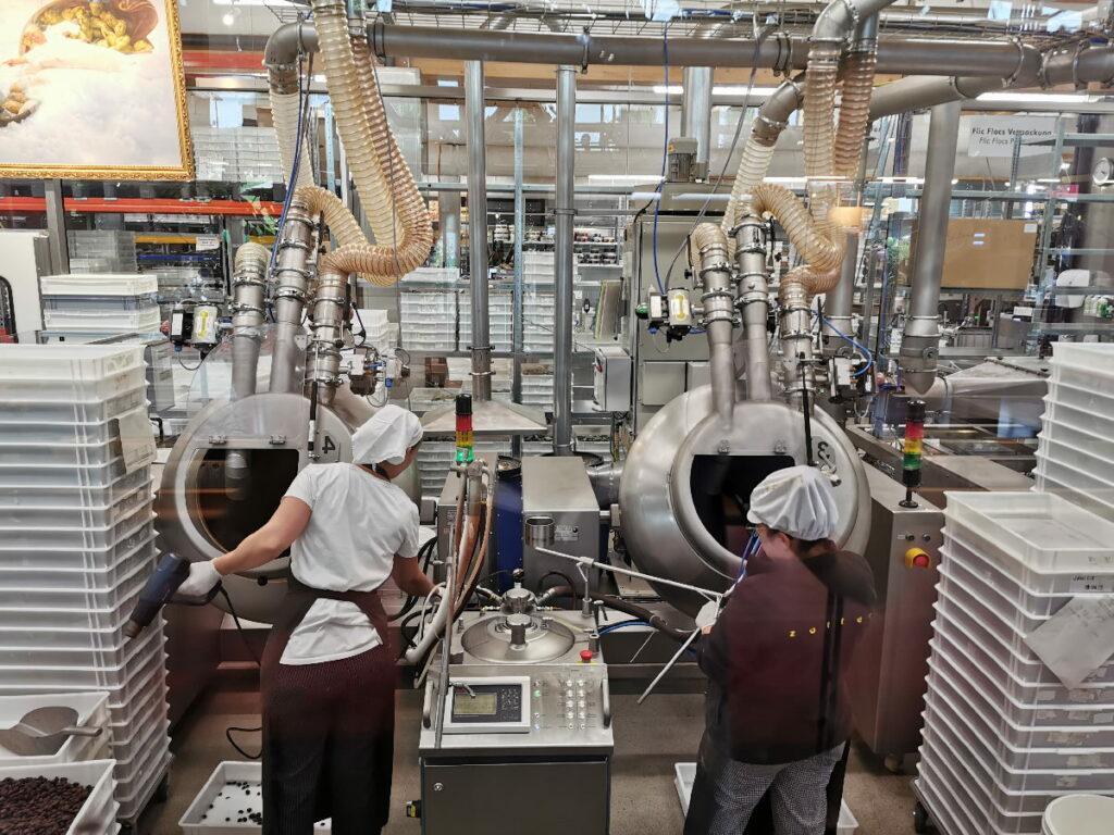 Der erste Blick in die Zotter Schokoladenfabrik