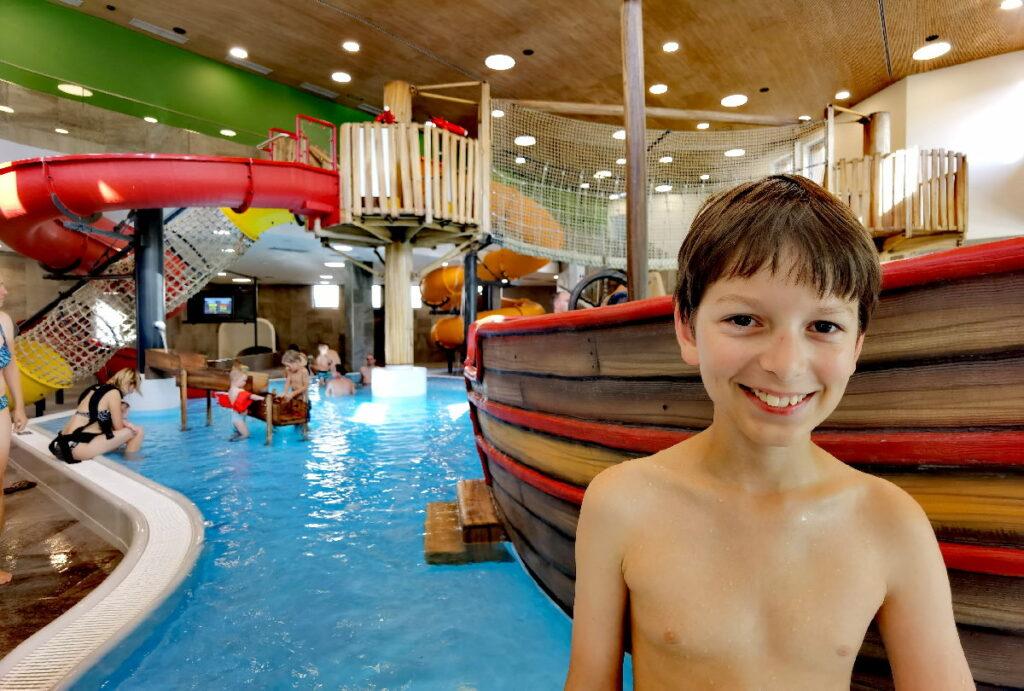 Das neue Schwimmbad im Zugspitz Resort Ehrwald -  ein Riesenspaß für Kinder!
