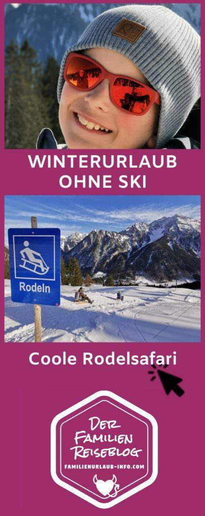 Winterurlaub ohne Ski - rodeln Brandnertal auf der Rodelsafari