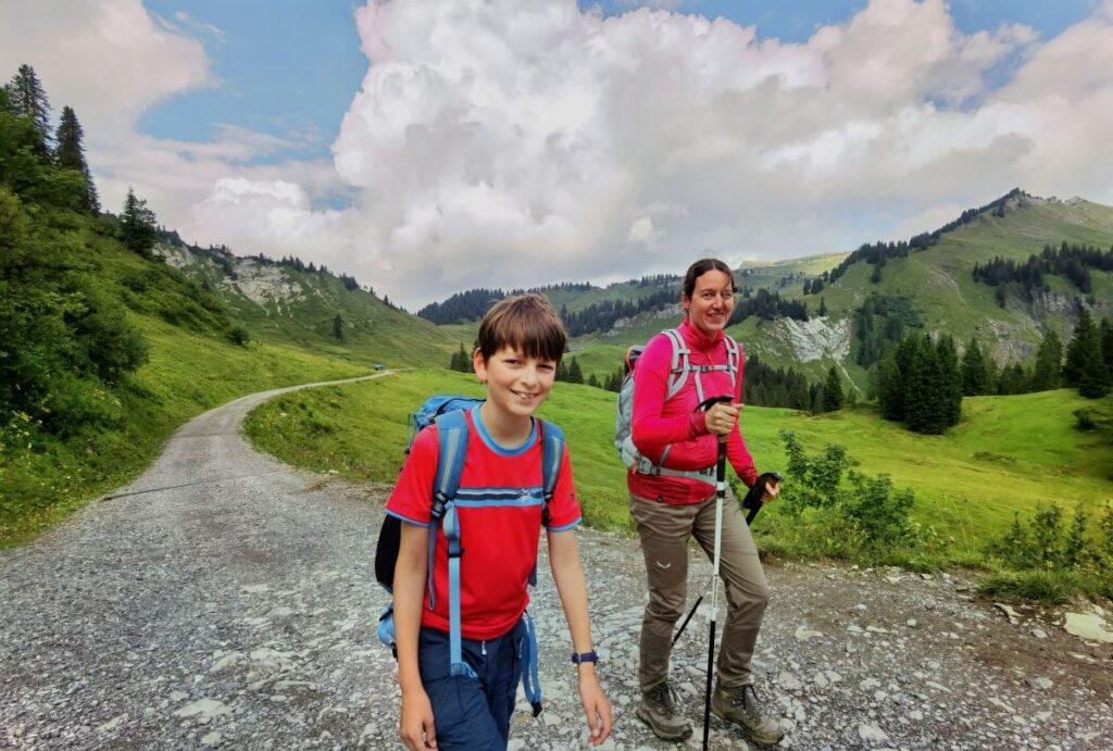 Vom Bodensee in die Berge zum Wandern mit Kindern